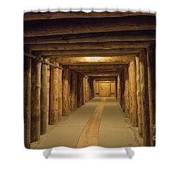 Shower Curtain featuring the photograph Mining Tunnel by Juli Scalzi