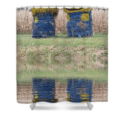 Minions In A Reflection Pool Shower Curtain