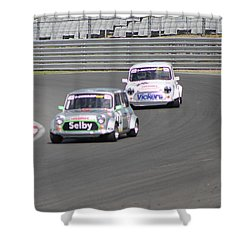 Mini's At Brands Hatch Shower Curtain