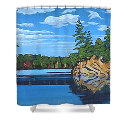 Mink Lake Gap Shower Curtain