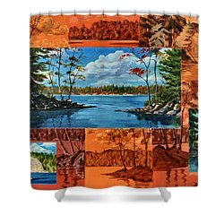 Mink Lake Looking North West Shower Curtain