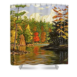 Mink Lake Narrows Shower Curtain