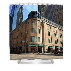 Shower Curtain featuring the photograph Minneapolis Downtown by Frank Romeo