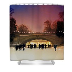 Minneapolis Loppet At Night Shower Curtain
