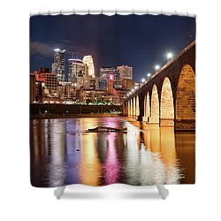 Minneapolis Nights Shower Curtain