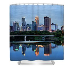 Minneapolis Reflections Shower Curtain by Rick Berk