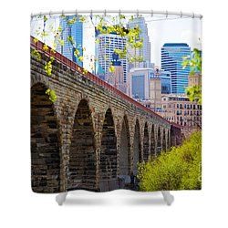 Minneapolis Stone Arch Bridge Photography Seminar Shower Curtain