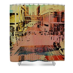 Minneapolis Streets 1 Shower Curtain by Susan Stone