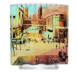 Minneapolis Streets 2 Shower Curtain by Susan Stone