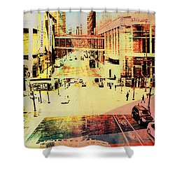 Minneapolis Streets 3 Shower Curtain by Susan Stone