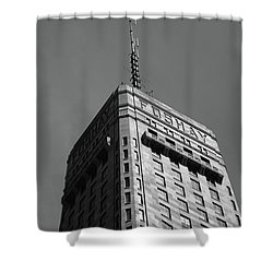 Shower Curtain featuring the photograph Minneapolis Tower 6 Bw by Frank Romeo