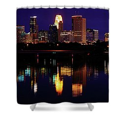 Minneapolis Twilight Shower Curtain by Rick Berk