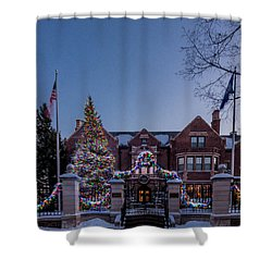 Christmas Lights Series #6 - Minnesota Governor's Mansion Shower Curtain