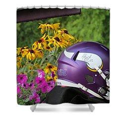 Minnesota Vikings Helmet Shower Curtain by Kyle West