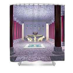 Minoan Temple Shower Curtain by Corey Ford