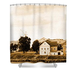 Shower Curtain featuring the photograph Minsk Old Town by Vadim Levin