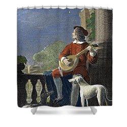 Minstrel, 19th Century Shower Curtain by Granger