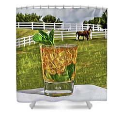 Mint Julep Kentucky Derby Shower Curtain