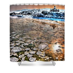 Minus Eight On The Mo Shower Curtain by William Fields