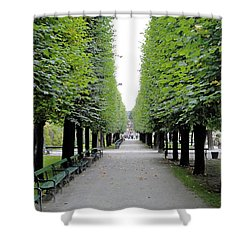 Mirabell Garden Alley Shower Curtain