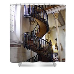 Shower Curtain featuring the photograph Miraculous Stairs by Kurt Van Wagner