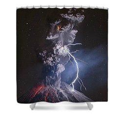 Mirador Del Volcan Chile Shower Curtain