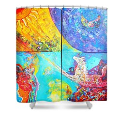 sold out to Ms Mittal delhi Shower Curtain by Sanjay Punekar