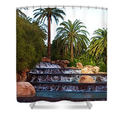Mirage Waterfall Shower Curtain by Rae Tucker