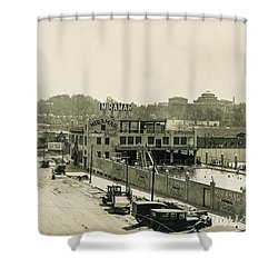 Shower Curtain featuring the photograph Miramar Pool, 1927 by Cole Thompson
