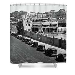 Shower Curtain featuring the photograph Miramar Saltwater Pool by Cole Thompson
