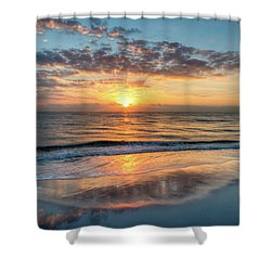 Shower Curtain featuring the photograph Mirror At Sunrise by Debra and Dave Vanderlaan