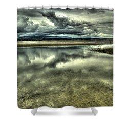 Mirror Beach Shower Curtain