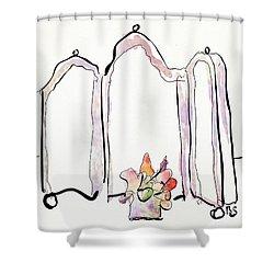 Sketch Mirror Shower Curtain