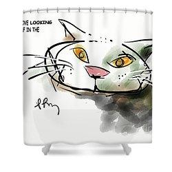 Mirror Cat Shower Curtain