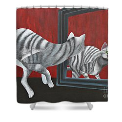Mirror Image Shower Curtain by Jutta Maria Pusl