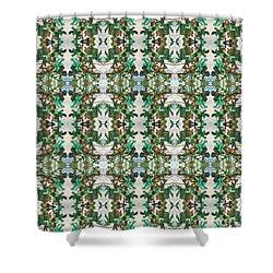 Mirror Image Of Acorns On An Oak Tree Shower Curtain