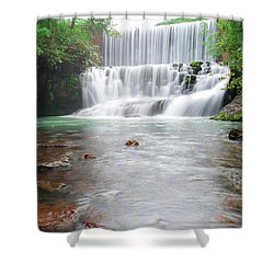Shower Curtain featuring the photograph Mirror Lake Falls 2 by Renee Hardison