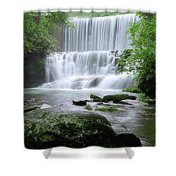 Mirror Lake Shower Curtain by Renee Hardison