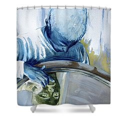 Shower Curtain featuring the painting Mirror Mirror by Rene Capone