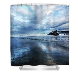 Shower Curtain featuring the photograph Mirror Of Light by Debra and Dave Vanderlaan