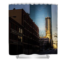 Mirror Reflection Of Peachtree Plaza Shower Curtain
