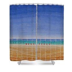Mirror Twin Beaches Shower Curtain