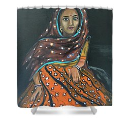 Mirror Work Skirt Shower Curtain