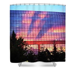 Mirrored Sky Shower Curtain
