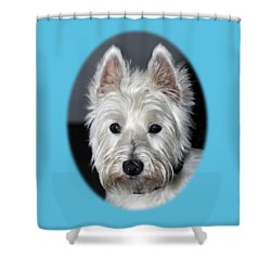 Mischievous Westie Dog Shower Curtain