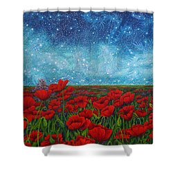 Mischling Shower Curtain