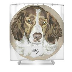 Shower Curtain featuring the painting Miss Abby by Carol Wisniewski