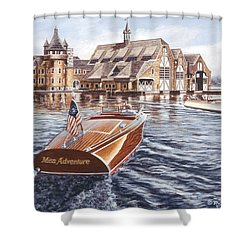 Miss Adventure Shower Curtain by Richard De Wolfe