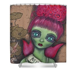 Miss Argentina Shower Curtain by Abril Andrade Griffith