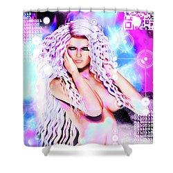 Miss Inter-dimensional 2089 Shower Curtain
